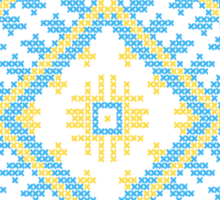 Ukrainian national ornaments Sticker