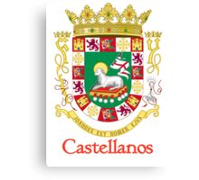 Castellanos Shield of Puerto Rico Canvas Print