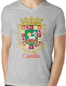 Castillo Shield of Puerto Rico Mens V-Neck T-Shirt