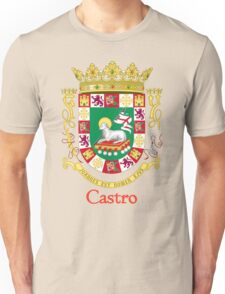 Castro Shield of Puerto Rico Unisex T-Shirt