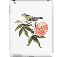 Watercolor bird and flower peony iPad Case/Skin