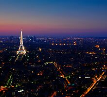 Paris Sunset by eic10412