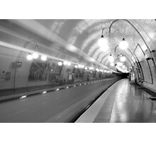 Metropolitan Paris Station Photographic Print
