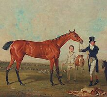 Shoveller Held by her Trainer Will Chifney by Bridgeman Art Library
