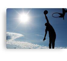 Basketball Silhouette Slam Dunk Canvas Print