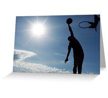 Basketball Silhouette Slam Dunk Greeting Card