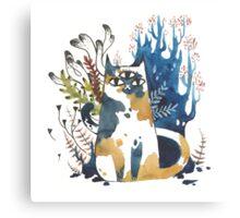 Kalanchoe - Feline Terrarium Canvas Print