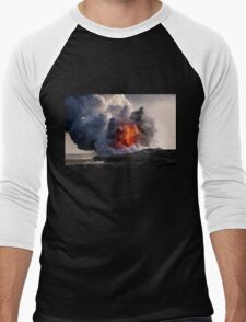Kilauea Volcano at Kalapana 8 Men's Baseball ¾ T-Shirt