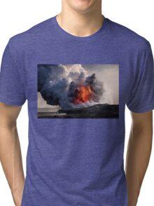 Kilauea Volcano at Kalapana 8 Tri-blend T-Shirt