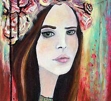 """""""Lana in the Garden"""" by ClaireHanleyArt"""