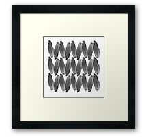 on the wire | black Framed Print