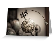 Earth and Moon Conjunction Greeting Card