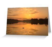 Landscape with a Mallard Drake Greeting Card