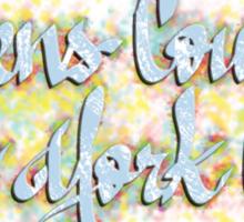Queens County New York City Sticker
