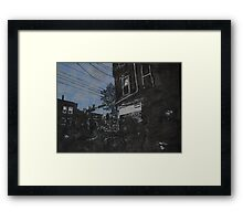 Black and White Thinking II Framed Print
