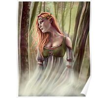 Beneath the Ivy - Ghostly Woman in Forest Poster