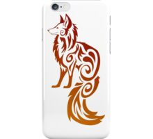 Firey Red Tribal Fox Kitsune iPhone Case/Skin