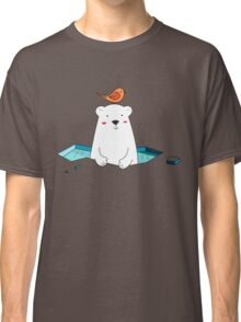 Cute Polar Bear and Bird  Classic T-Shirt