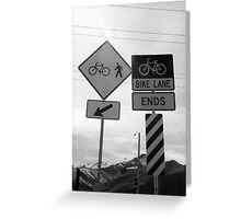 Bicycling Street Signs Greeting Card