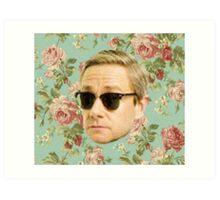 A Very Floral Martin Freeman Art Print