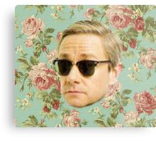 A Very Floral Martin Freeman Metal Print