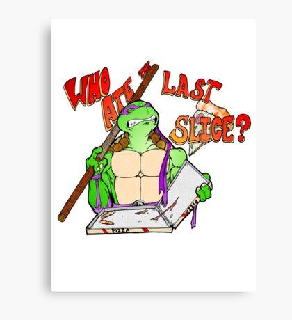 Who Ate the Last Slice? Canvas Print