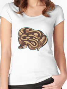 Lesser Ball Python Women's Fitted Scoop T-Shirt