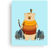 Brave Indian Bear Canvas Print