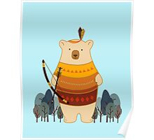Brave Indian Bear Poster