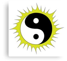 Yin Yang Design in front of the Sun Canvas Print