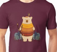 Brave Indian Bear Unisex T-Shirt