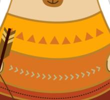 Brave Indian Bear Sticker