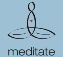 "Meditator with ""Meditate"" in simple text. by Mindful-Designs"