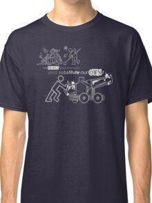 We Reject Your Cannon (Black/White Version) Classic T-Shirt