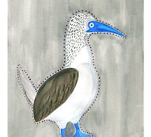 Blue Footed Booby by finchandcanary