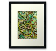 Earthy Swirls Framed Print
