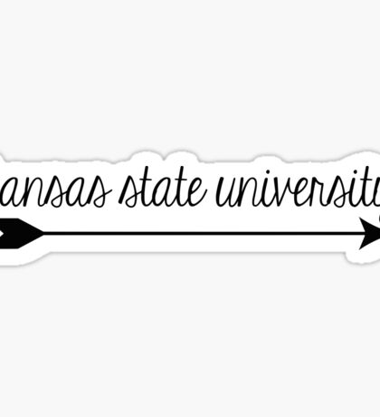 Kansas State University Arrow Sticker
