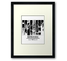 Weapons of Choice Framed Print