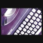 Purple typewriter by Kell Rowe