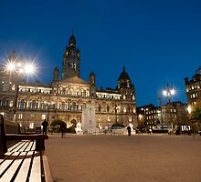 george square at night by photoeverywhere