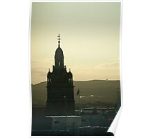 Glasgow City Hall silhouette Poster