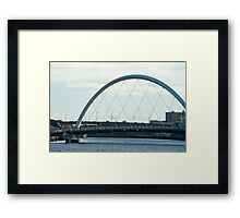 The Clyde Arc in Glasow, Scotland Framed Print