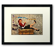 """Kiss With aKick"" Framed Print"