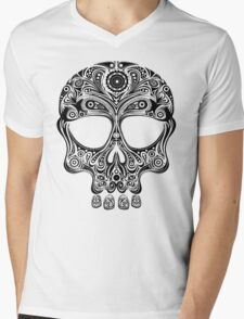Skullsley - black Mens V-Neck T-Shirt