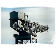 Clydeport Crane, Glasgow Poster