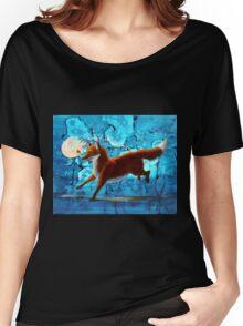Fantasy Red Kitsune Fox Illustration Women's Relaxed Fit T-Shirt