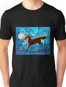 Fantasy Red Kitsune Fox Illustration Unisex T-Shirt