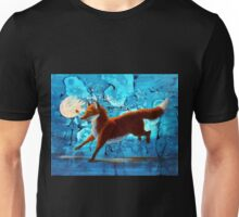 Fantasy Red Kitsune Fox Illustration Unisex T-Shirt