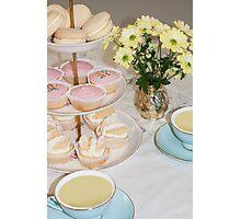 Cuppa, Cake & Cookies Photographic Print