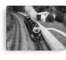 Steam Train in the Station. Canvas Print